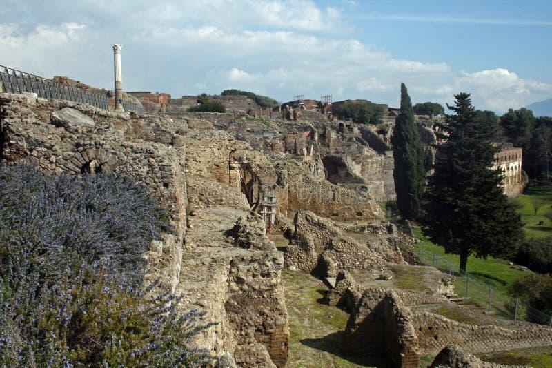 Pompeiien fördärvar arkivbild