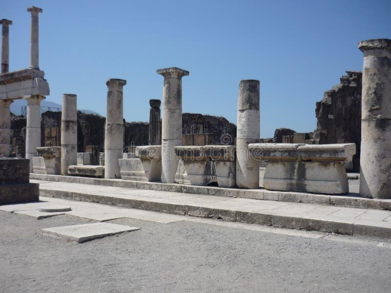 Pompeji-Forum stockfotografie