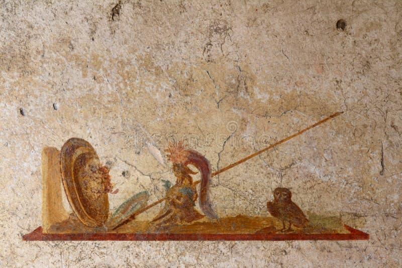 Pompeji, Italien: Fresko stockfotografie
