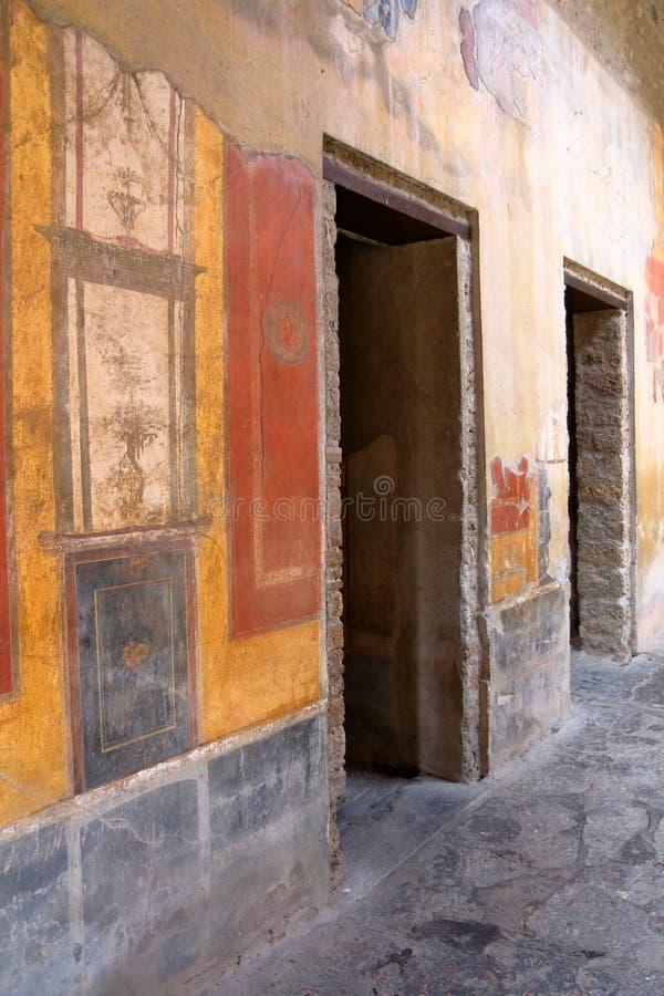 Pompeji, Italien: Fresko lizenzfreies stockfoto