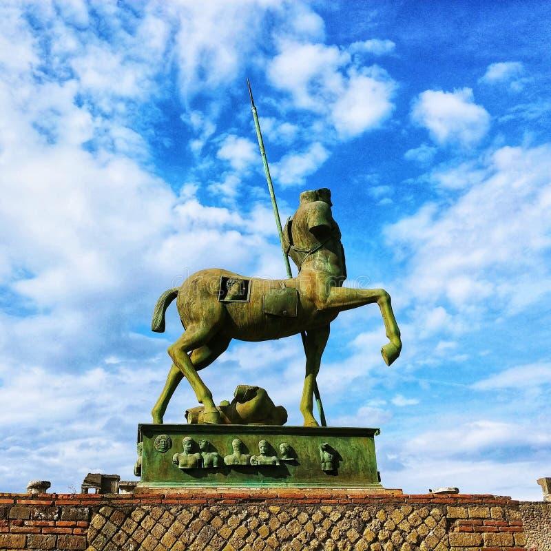 Pompeji-Statue lizenzfreie stockfotografie