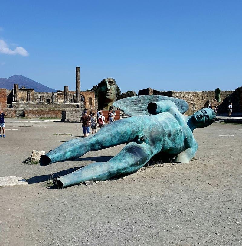 Pompeji-Statuen lizenzfreie stockbilder