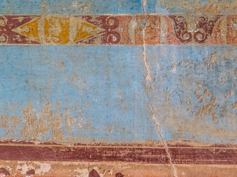 Pompeji-Wandbeschaffenheit lizenzfreies stockbild