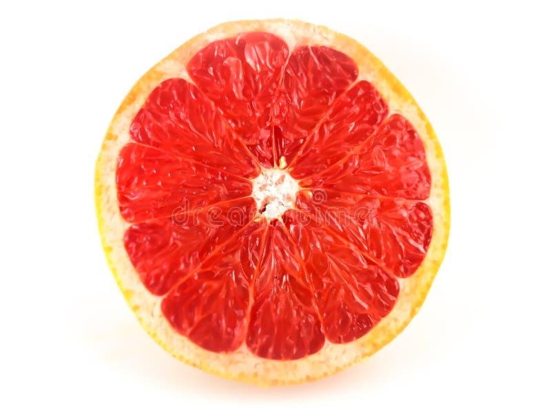 Pompelmo affettato rosso fotografia stock