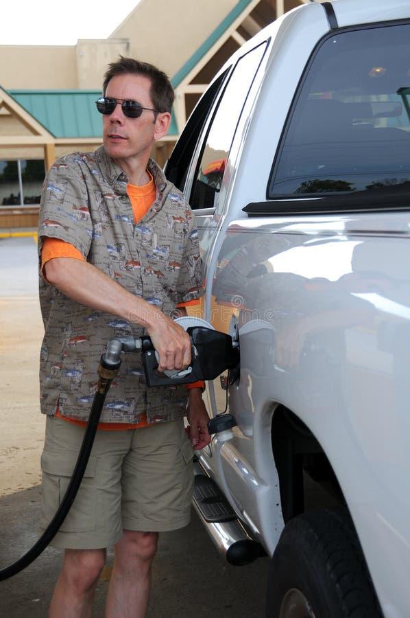 Pompend Gas stock foto's