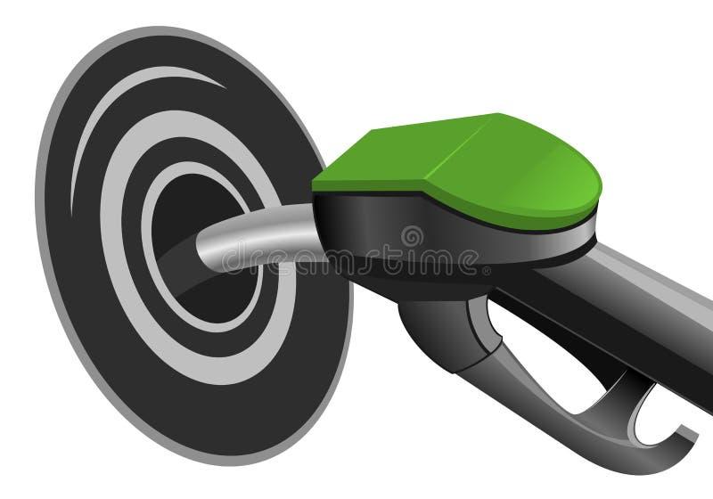 Pompende brandstof vector illustratie
