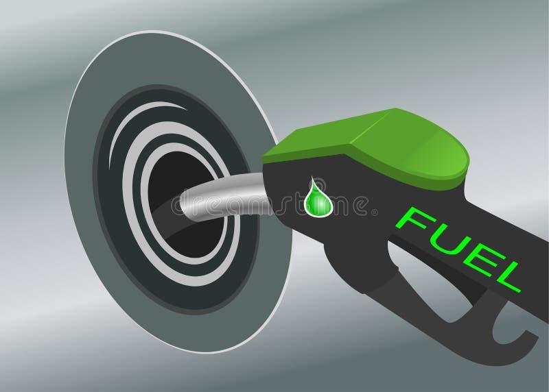 Pompende brandstof royalty-vrije illustratie