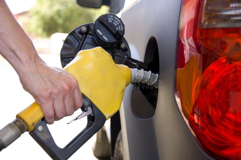 Pompende Gas of Benzine stock foto's