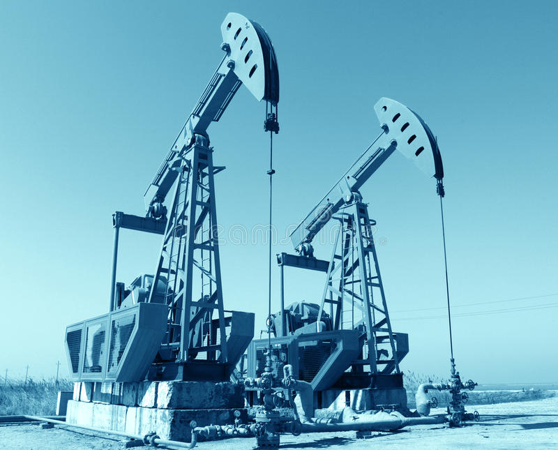 Pompes à huile image stock
