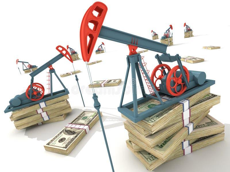 Pompes de pétrole illustration libre de droits