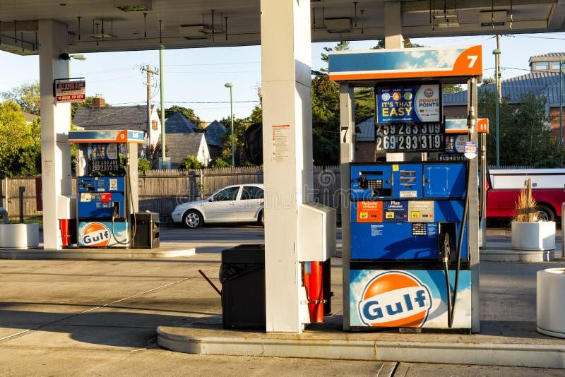 Pompes de station service de Golfe photos stock