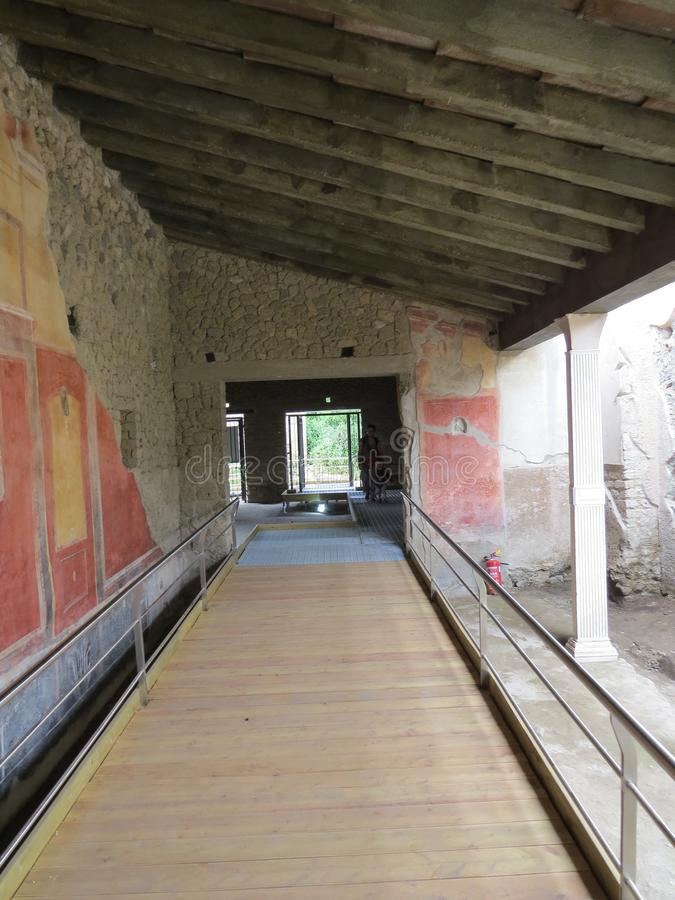Pompey eller Pompeii italy naples royaltyfri foto