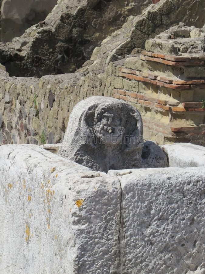 Pompey eller Pompeii italy naples arkivfoto