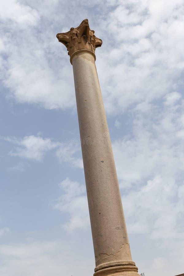 Pompey filar w Aleksandria, Egipt zdjęcia stock