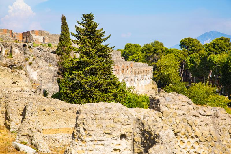 Pompeya, excavaciones de Pompeya Ruinas romanas históricas Italia imagenes de archivo
