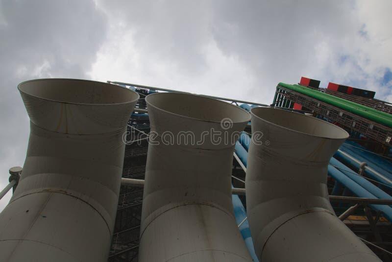 pompidou του κεντρικού Παρισι&omicron στοκ εικόνα