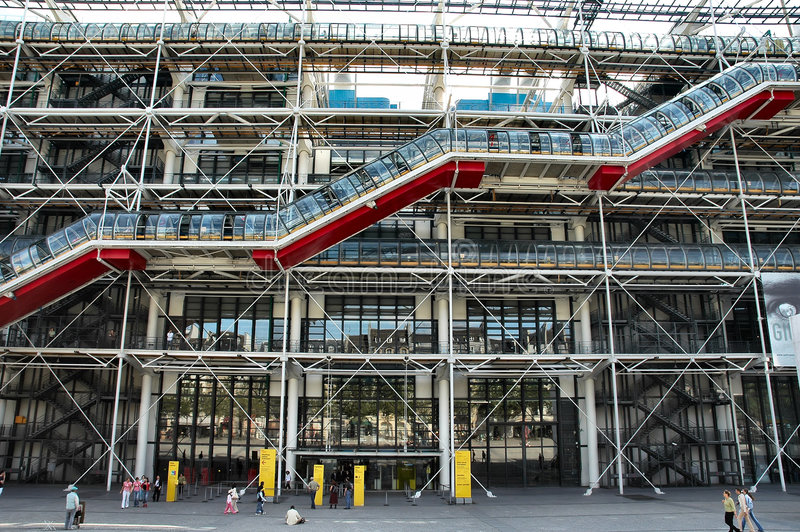 Pompidou Center stock photo