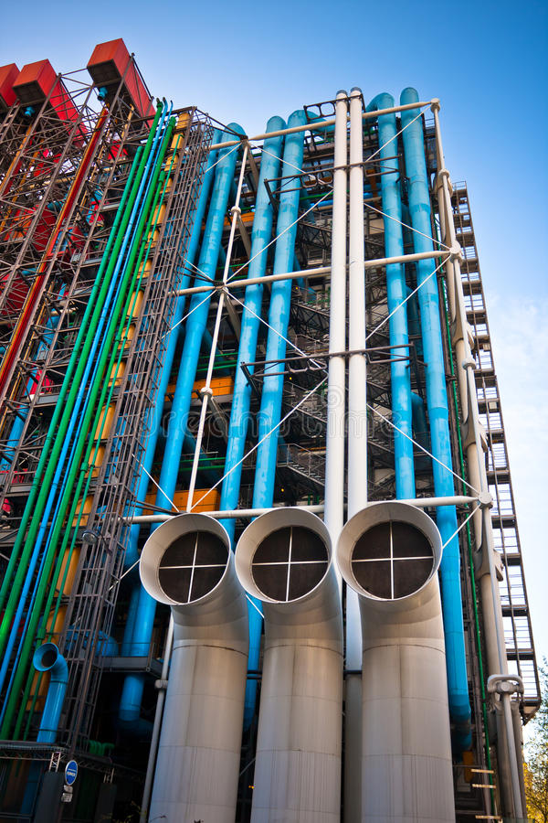 The Pompidou cultural center in Paris royalty free stock photos