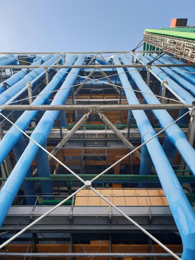 Pompidu中心在巴黎,法国 库存照片