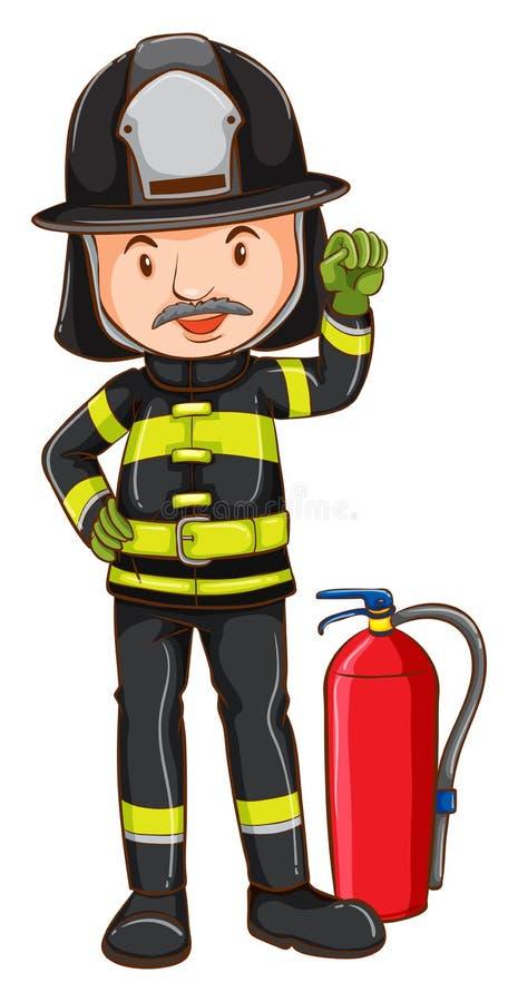 Download Pompier illustration de vecteur. Illustration du seulement - 45366119
