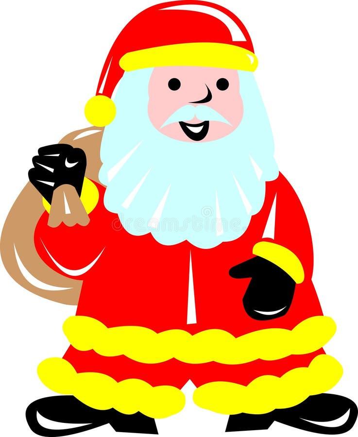 Pompier Santa illustration de vecteur