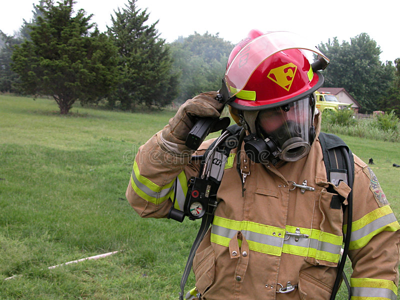 Pompier superbe photo libre de droits