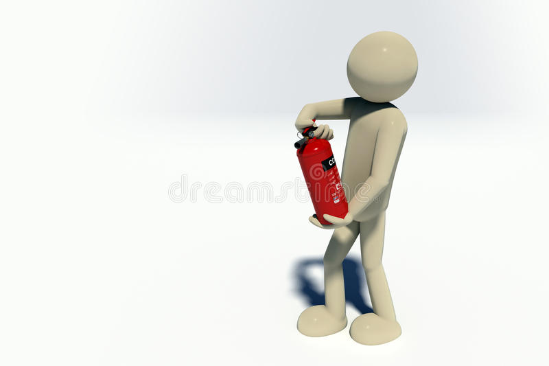 pompiere 3D illustrazione vettoriale