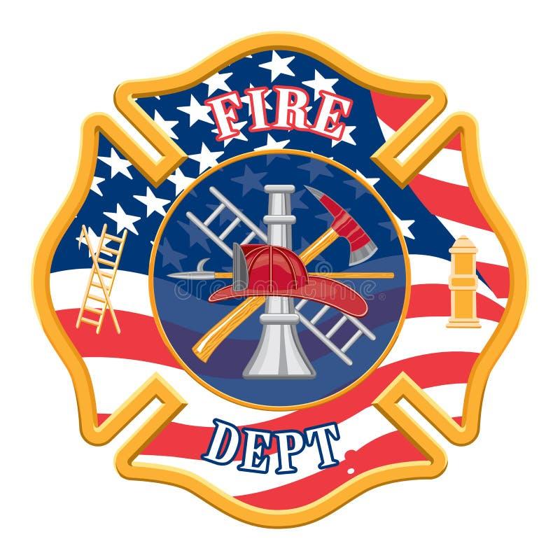 Pompiere Department Cross illustrazione vettoriale