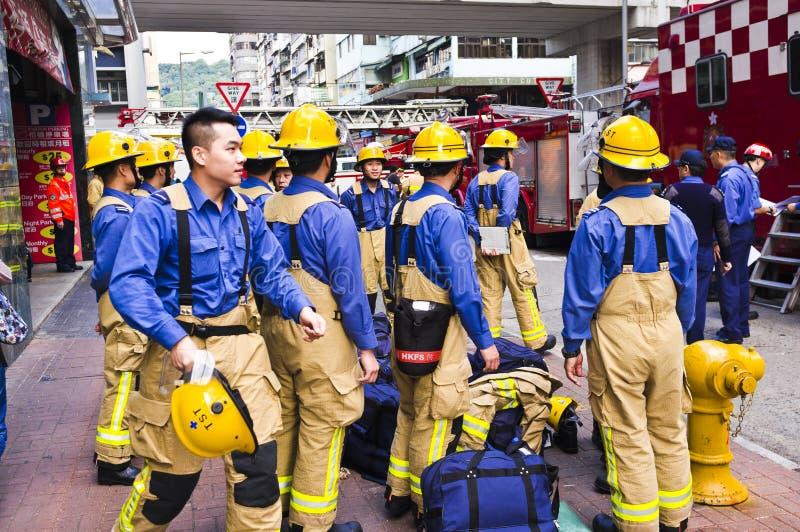 Pompiere di Hong Kong fotografia stock libera da diritti