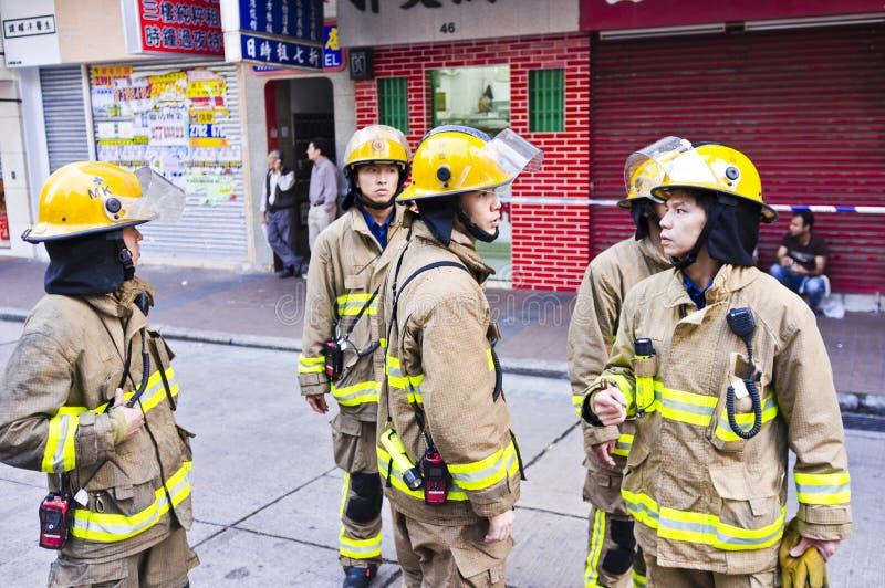 Pompiere di Hong Kong immagine stock