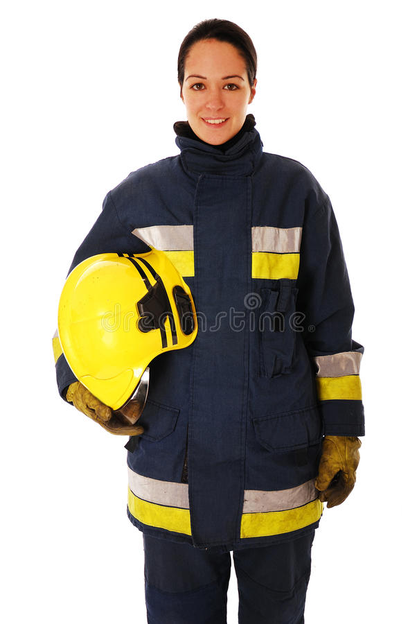 Pompiere femminile fotografia stock
