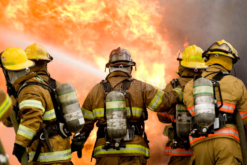 Pompieri fotografia stock