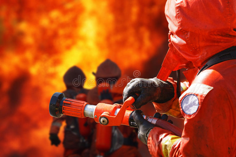 Pompieri immagini stock