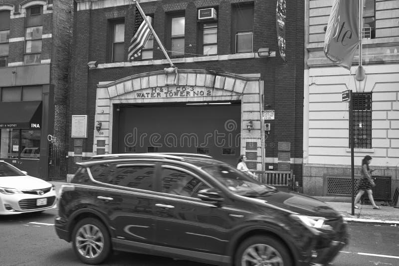 Pompieri della scala 3 in NYC fotografia stock libera da diritti