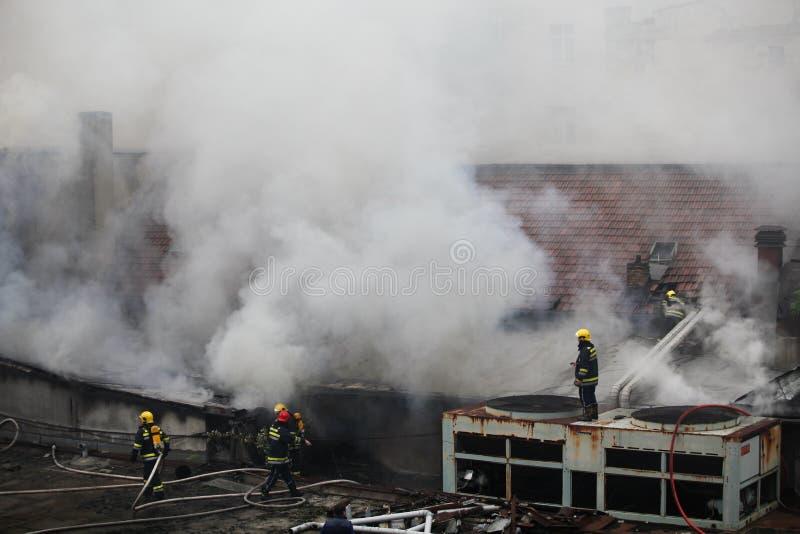 Pompiers en service photographie stock