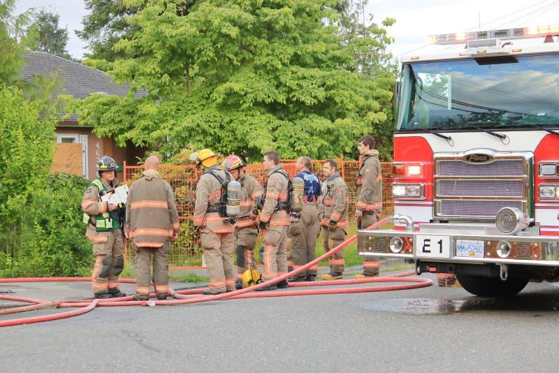 Pompiers et conséquence de Chilliwack image stock