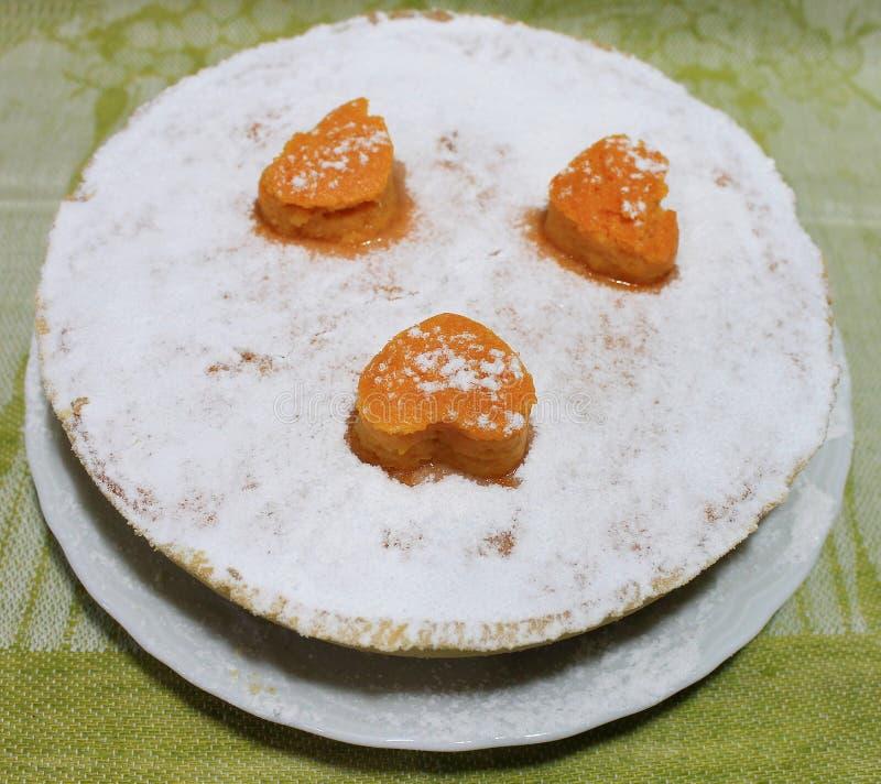Pompoen en Shortcake-Pastei Klassiek Amerikaans Dessert stock afbeelding
