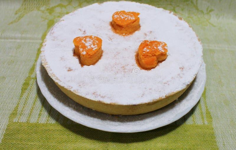 Pompoen en Shortcake-Pastei Klassiek Amerikaans Dessert royalty-vrije stock afbeeldingen