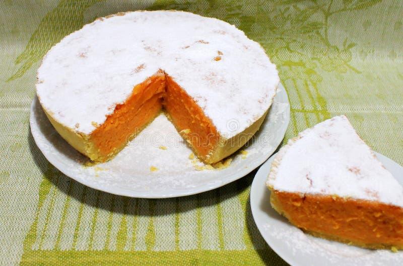 Pompoen en Shortcake-Pastei Klassiek Amerikaans Dessert royalty-vrije stock fotografie
