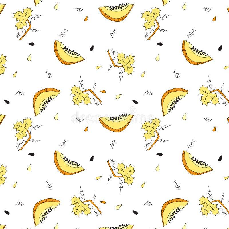 Pompoen geel patroon stock foto