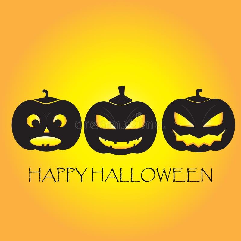 Pompoen gelukkig Halloween stock illustratie
