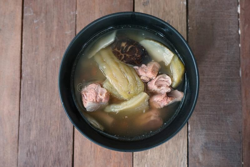 Pompoen gestoomde varkensvleesribben stock afbeelding