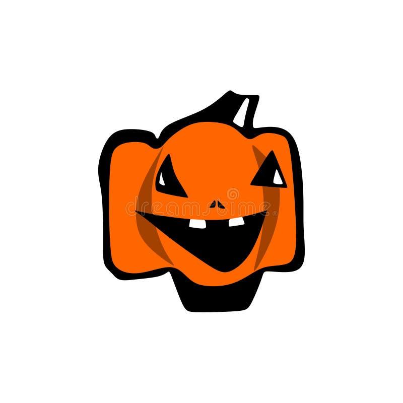 Pompoen Halloween komisch, cartoonish royalty-vrije illustratie