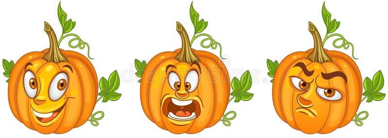 Pompoen Halloween-vakantiesymbool vector illustratie