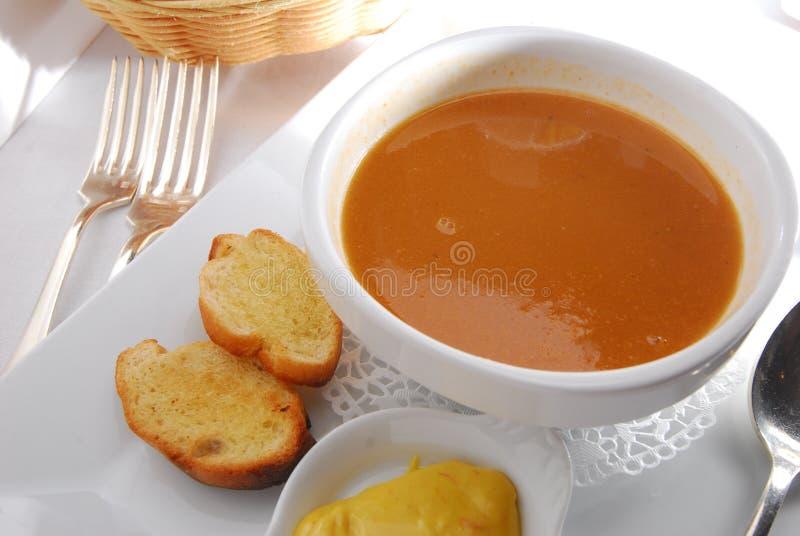 pompoen soep royalty-vrije stock foto