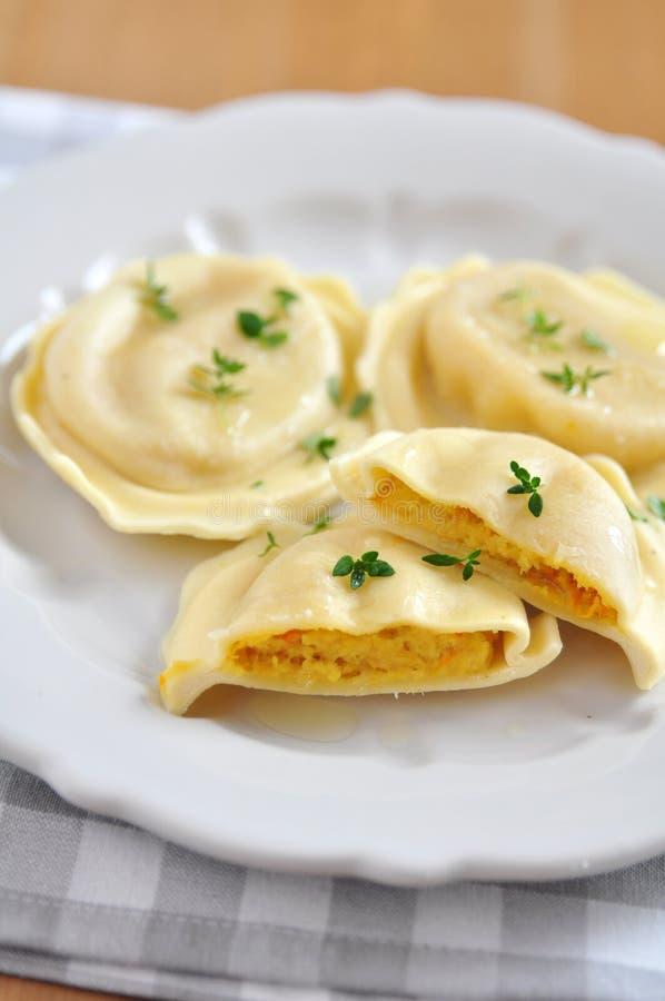 Pompoen Tortellini royalty-vrije stock afbeelding