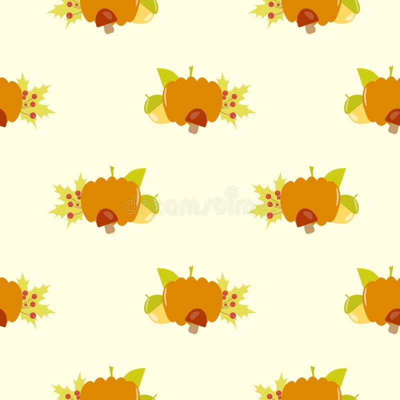 Pompoen uitstekend naadloos vectorpatroon vector illustratie