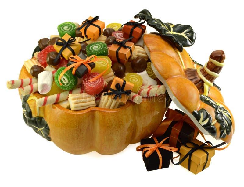 Pompoenhoogtepunt van snoepjes 1 royalty-vrije stock afbeelding