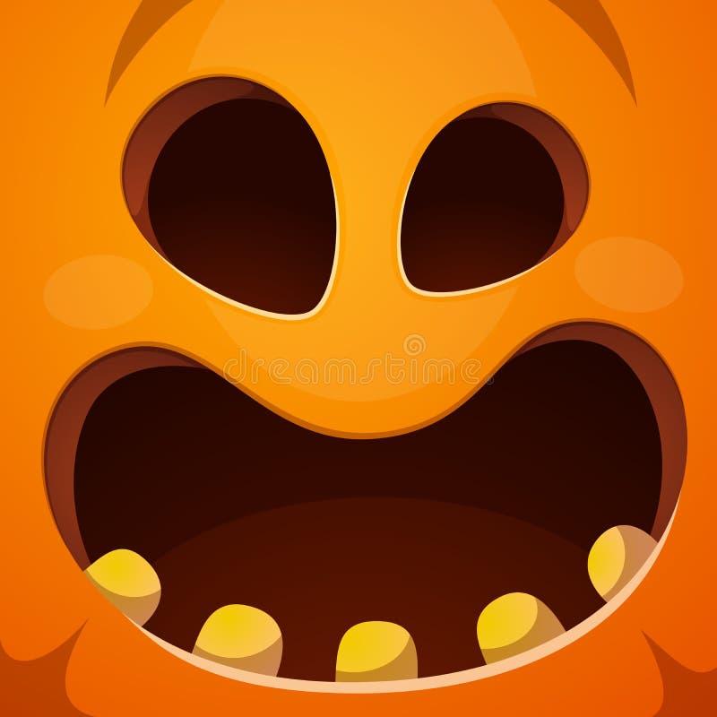 Pompoenillustratie Verschrikking, vrees, gelukkig Halloween royalty-vrije illustratie