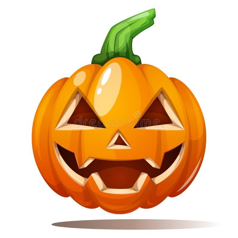 Pompoenillustratie Verschrikking, vrees, gelukkig Halloween stock illustratie